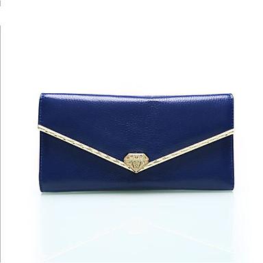 Women Coin Purse PU Cowhide All Seasons Casual Outdoor Rectangle Button Blue Black Fuchsia
