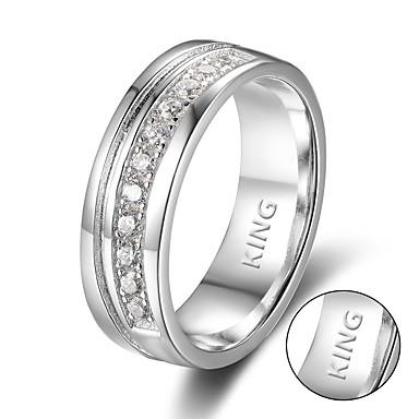 Személyre szabott ajándékot Gyűrűk Rozsdamentes acél Páros Egyszerű Geometrijski oblici pár cipő Divat Ajándék