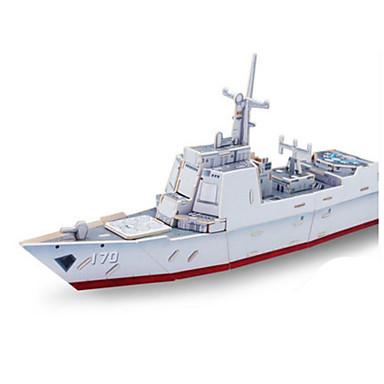 Robotime 3D-puslespill Puslespill Tremodeller Modellsett Krigsskip Skip 3D GDS Tre Klassisk Unisex Gave
