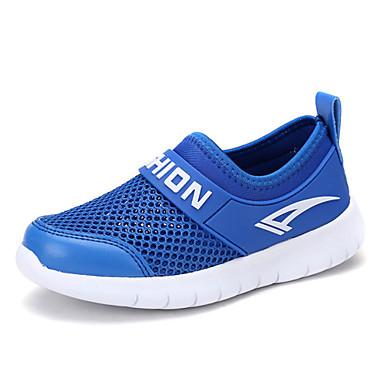 Para Meninos sapatos Tule Primavera Verão Solados com Luzes Conforto Mocassins e Slip-Ons Caminhada para Casual Ao ar livre Branco Azul