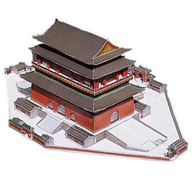 Quebra-Cabeças 3D Maquetes de Papel Construções Famosas Arquitetura Chinesa Bateria Faça Você Mesmo Cartão de Papel Duro Estilo Chinês