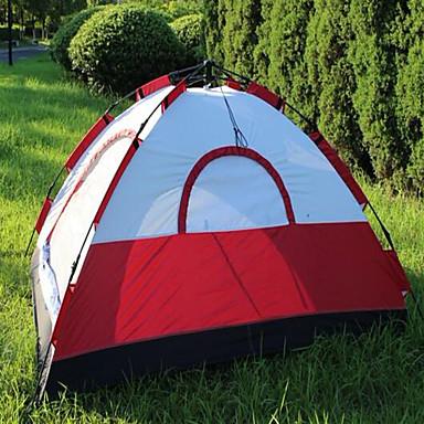 رخيصةأون مفارش و خيم و كانوبي-4 شخص خيمة الكاميرا في الهواء الطلق الدفء طبقة واحدة خيمة التخييم 1500-2000 mm إلى التخييم والتنزه Stretch Satin