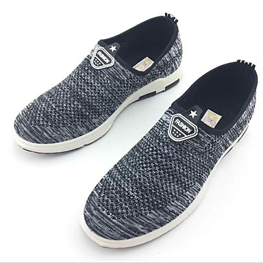 Men's Shoes Fabric Spring Fall Comfort Loafers & Slip-Ons Walking Shoes for Casual Outdoor Black Gray
