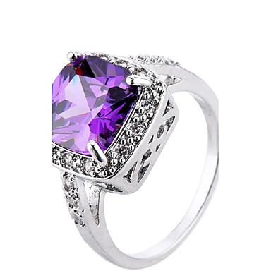 Dame Steninnfatninger Ring Band Ring Syntetisk Diamant Rhinstein Personalisert Luksus Rundt design Unikt design Klassisk Rhinestone