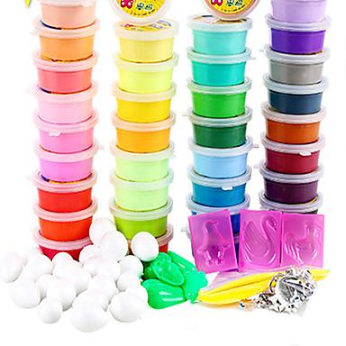 Massinha Brinquedos & Bonecos de Ação Jogue Massa, Plasticina e Massa Brinquedos de Faz de Conta Antiestresse Brinquedos Redonda Faça