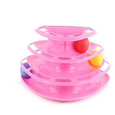 Rodents Furry Small Pets Acrylic Durable Toys Orange Blue Pink