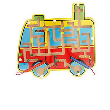 Lekebiler Labyrinter og logikkspill Labyrint Magnetiske labyrinter Leketøy fly Magnetisk Tre Jern Barne 1 Deler