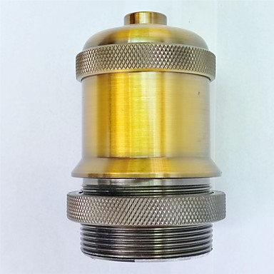 E27 Gold Antique Lamp Holder Long Thread High Quality Lighting Accessory