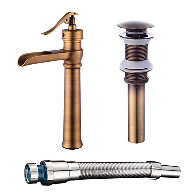 Faucet Set - Waterfall Antique Copper Centerset One Hole