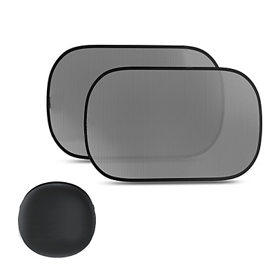 Side Car Window Sunshades Pack of 3 80 GSM for the Best UV Protection 2 Sizes (Cars & Small SUVs (19' x 12'))