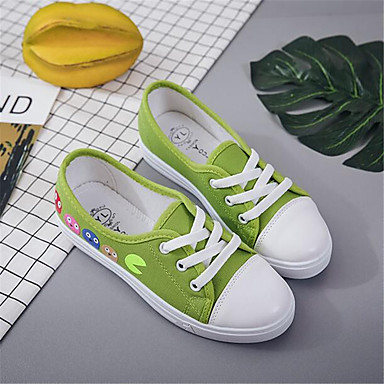 Women's Shoes Canvas PU Spring Comfort Sneakers For Casual Green