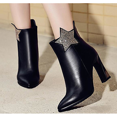 Women's Shoes Real Leather PU Fall Winter Comfort Fashion Boots Boots For Casual Black