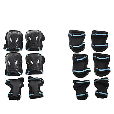 Kids' Adults' Protective Gear Knee Pads + Elbow Pads + Wrist Pads for Skateboarding Inline Skates Roller Skates Eases pain Breathable 6