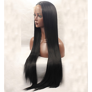 Synthetic Lace Front Wig Straight Synthetic Hair Black Wig Women's Long Lace Front