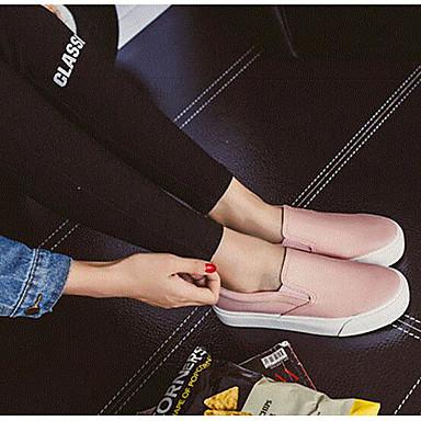 Naiset Kengät Canvas Kevät Kesä Comfort Mokkasiinit Käyttötarkoitus Kausaliteetti Valkoinen Musta Pinkki