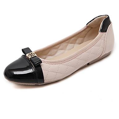 Dame Sko Egte Lær Vår Sommer Komfort Flate sko Til Avslappet Svart Rød Mandel