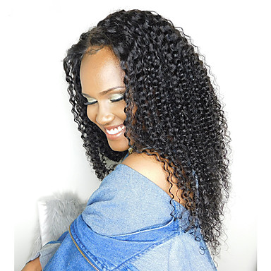 Indian Hair Kinky Curly / Curly Weave Natural Color Hair Weaves Human Hair Weaves Natural Black Human Hair Extensions