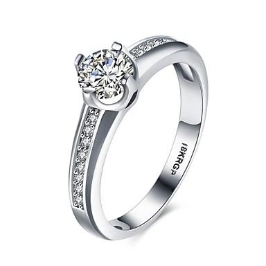 Dame Ring Kubisk Zirkonium Sølv Zirkonium Kobber Sølvplett Geometrisk Form Uregelmessig Personalisert Luksus Geometrisk Unikt design
