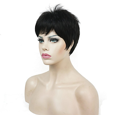 Synthetic Wig Straight Blonde Pixie Cut Synthetic Hair Blonde / White Wig Women's Short Capless