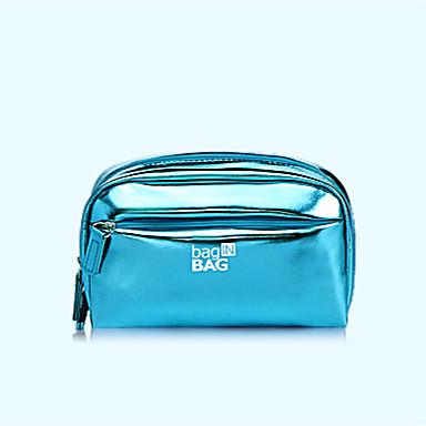 Women Storage Bag PU All Seasons Casual Baguette Zipper Blue Gold Blushing Pink Purple Fuchsia
