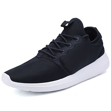 Homens sapatos Tule Primavera Outono Conforto Tênis Caminhada Cadarço para Casual Preto Cinzento Azul