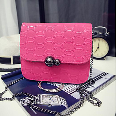Women Bags All Seasons PU Shoulder Bag for Casual Outdoor Black Blushing Pink Fuchsia