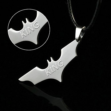 2015 factory direct export of wholesale jewelry pendant necklace titanium stainless steel Batman bat
