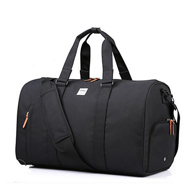 Men Shoulder Bag Polyester All Seasons Casual Outdoor Cylindrical Zipper Blue Black Gray