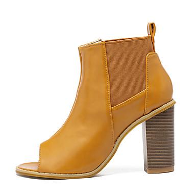 Naiset Kengät PU Kevät Slingback Sandaalit Käyttötarkoitus Kausaliteetti Musta Ruskea