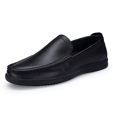 Men's Shoes Real Leather Cowhide Fall Winter Comfort Light Soles Loafers & Slip-Ons For Wedding Casual Party & Evening Outdoor Office &