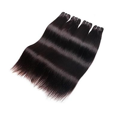 Menneskehår Vevet Brasiliansk hår Rett hår vever