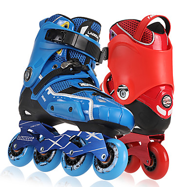 Erwachsene Inline-Skates Stoßfest Blau/Rote