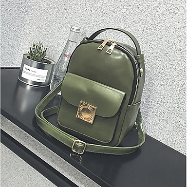 Women Bags All Seasons PU Backpack for Casual Green Black Red