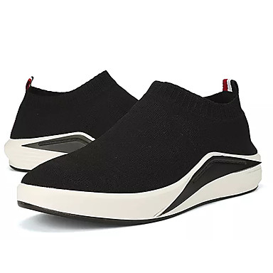 Homens sapatos Tule Primavera Outono Conforto Tênis para Atlético Casual Preto