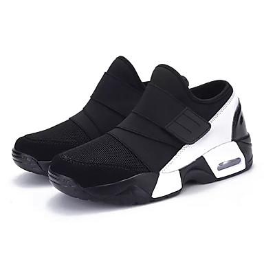 Homens sapatos Borracha Primavera Outono Conforto Tênis Cadarço para Ao ar livre Preto Branco/Preto Preto/Vermelho