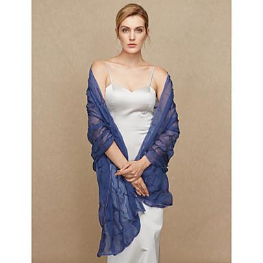 Chiffon Wedding / Party / Evening Women's Wrap With Beading / Ruffles / Ruffle Shawls