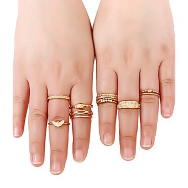 Naisten mansetti Ring Sormus Band Ring Kulta Kultainen Metalliseos Tekojalokivi Kiiltävä metallinen Metalli Pyöreä Yksilöllinen