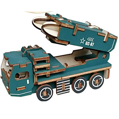Toy Car 3D Puzzles Jigsaw Puzzle Tank Plane / Aircraft Chariot 3D Simulation DIY Wooden Classic Unisex Gift