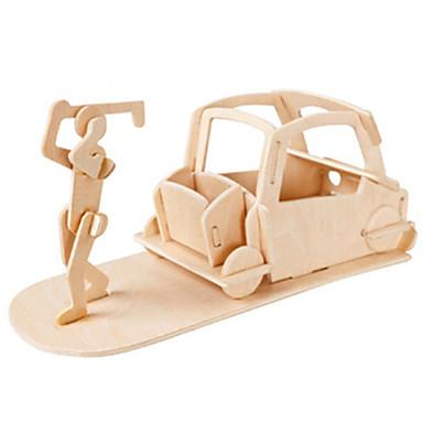 Muwanzi 3D-puslespill Puslespill Golfleker Tremodeller Luftkraft Kjent bygning Møbel Golf Arkitektur 3D GDS Tre Klassisk Unisex Gave