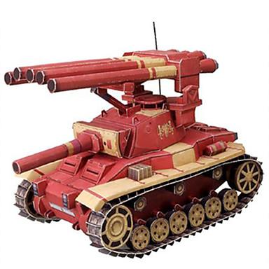 Leluautot 3D palapeli Paperimalli Neliö Panssarivaunu Sotavaunu Kova kartonki Poikien Unisex Lahja