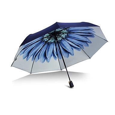 Plástico Homens / Mulheres / Para Meninas Ensolarado e chuvoso Guarda-Chuva Dobrável