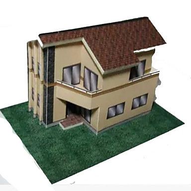 Quebra-Cabeças 3D Artesanato de Papel Casa Faça Você Mesmo Cartão de Papel Duro Crianças Unisexo Dom