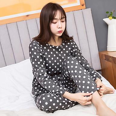 Women's Suits Nightwear Polka Dot-Medium