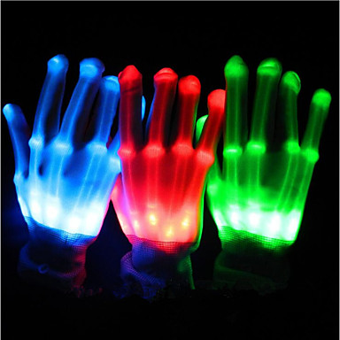 Gloves LED Lights Party Accessories Christmas Special Occasion Halloween Birthday Party Evening Graduation Event/Party Party / Evening