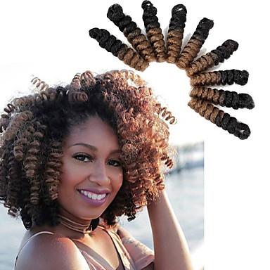 Cabelo para Trançar Curva Bouncy / Crochê Tranças torção 100% cabelo kanekalon / Kanikalon 20 raízes / pacote Tranças de cabelo 100% cabelo kanekalon