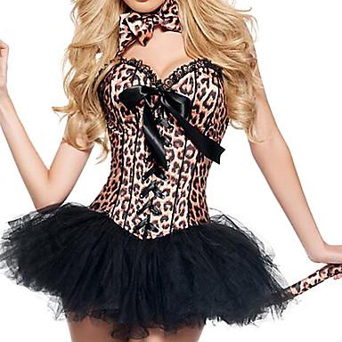 Eläin Cosplay-Asut Juhla-asu Naiset Halloween Joulu Karnevaali Festivaali/loma Halloween-asut Ruskea Leopardi