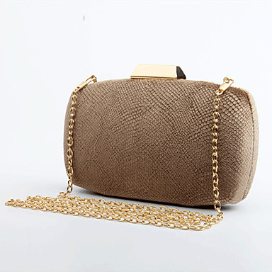 Women's Bags Velvet Evening Bag Plaid Green / Black / Gray