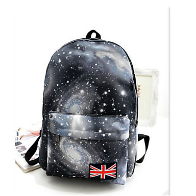 Women's Bags PU Backpack for Casual All Seasons Blue Brown Black