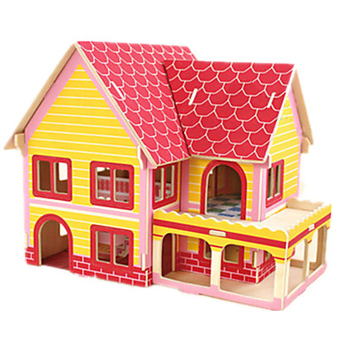 voordelige 3D-puzzels-Robotime 3D-puzzels Legpuzzel Houten puzzels Beroemd gebouw Huis DHZ Puinen Kaart Papier Klassiek Kinderen Unisex Speeltjes Geschenk