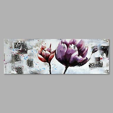 Hang malte oljemaleri Håndmalte - Blomstret / Botanisk Kunstnerisk Lerret
